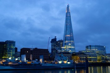 The Shard at dawn.
