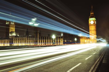 My first attempt with light trails on Westminster Bridge.
