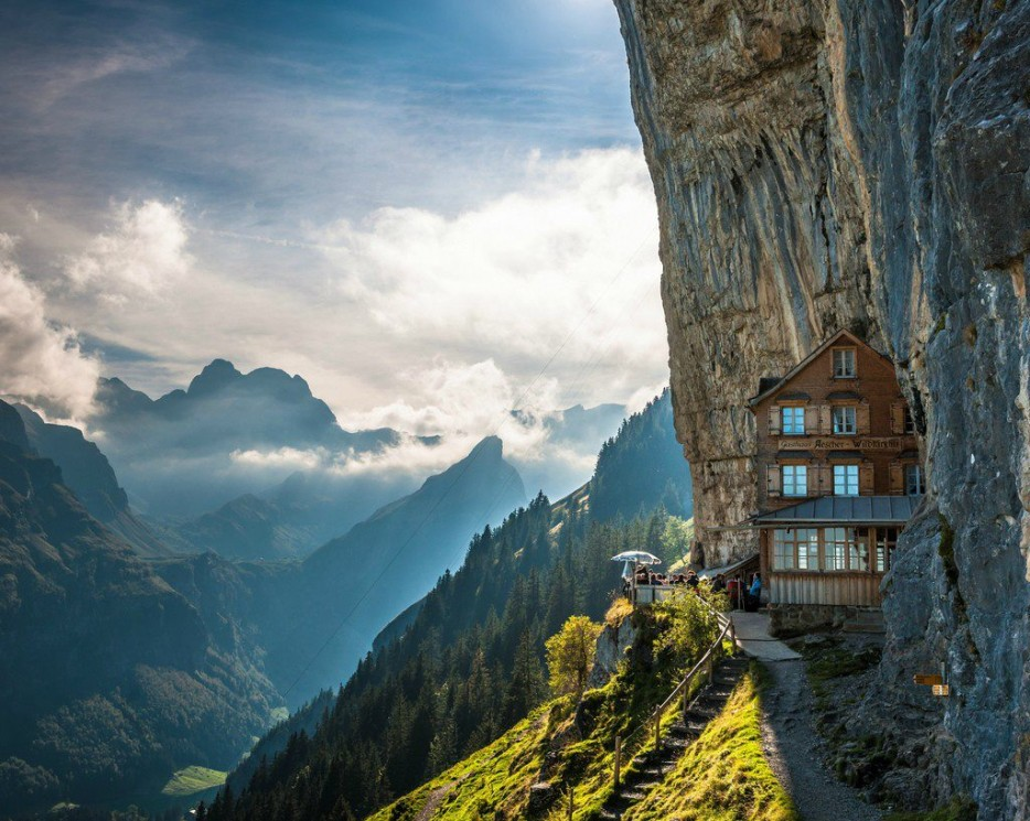 house in cliff