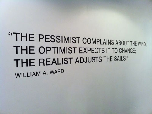 Pesimist:optomist quote