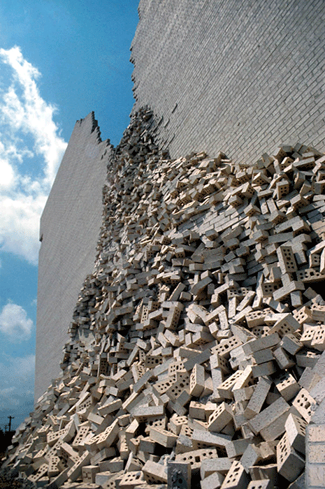 BEST store facade brickpile