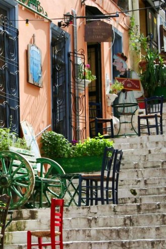 Steps of Plaka Athens Greece