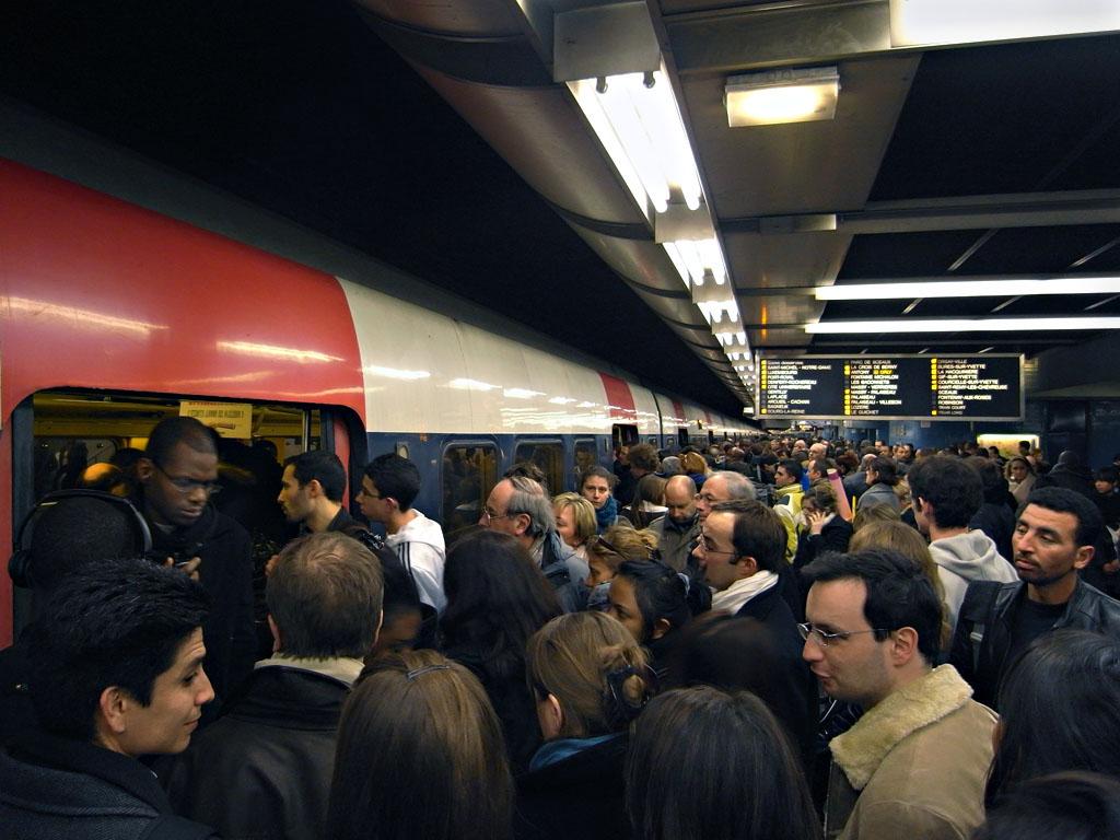RER B at Chatalet-les-Halles, image not mine.