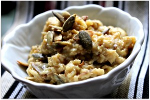 savory oatmeal | jl goes vegan