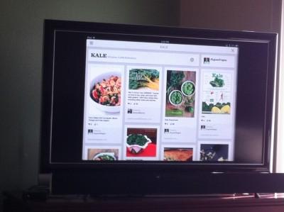 Kale Pinterest Board on TV