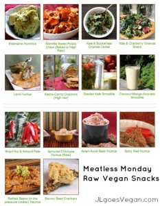 Meatless Monday Raw Vegan Snacks