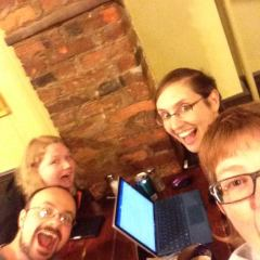 Wednesday-night Bean Hollow writing group selfie.