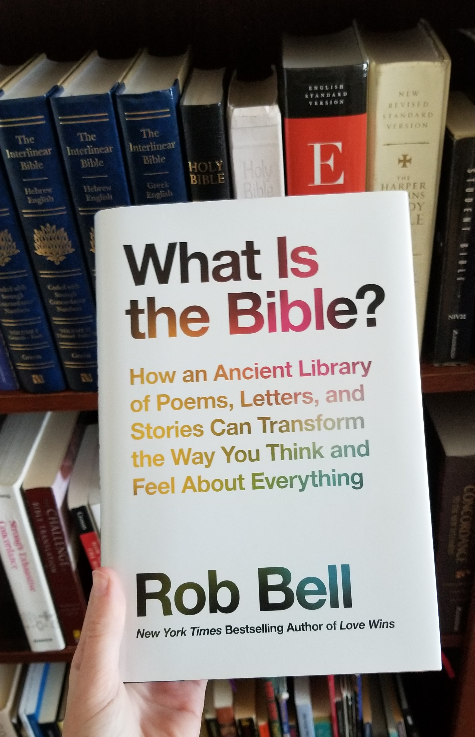 seeker s class at fccla is asking the question posed in the title of rob bell s latest book what is the bible how an ancient library of poems letters