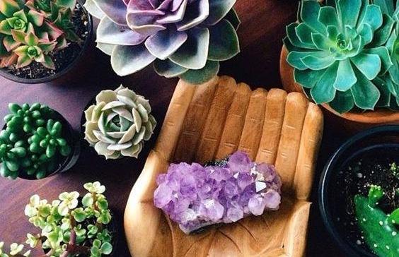 kristal in huis