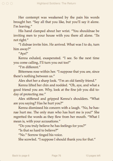 A Page from Highland Soldiers: The Return