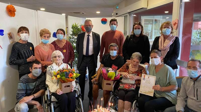 Centième anniversaire à Marie Clarin et à Maria Bedosti,