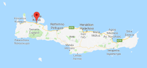 Plattegrond van Kreta.
