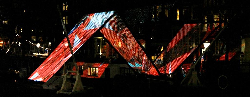 Amsterdam Light Festival in de grachten.