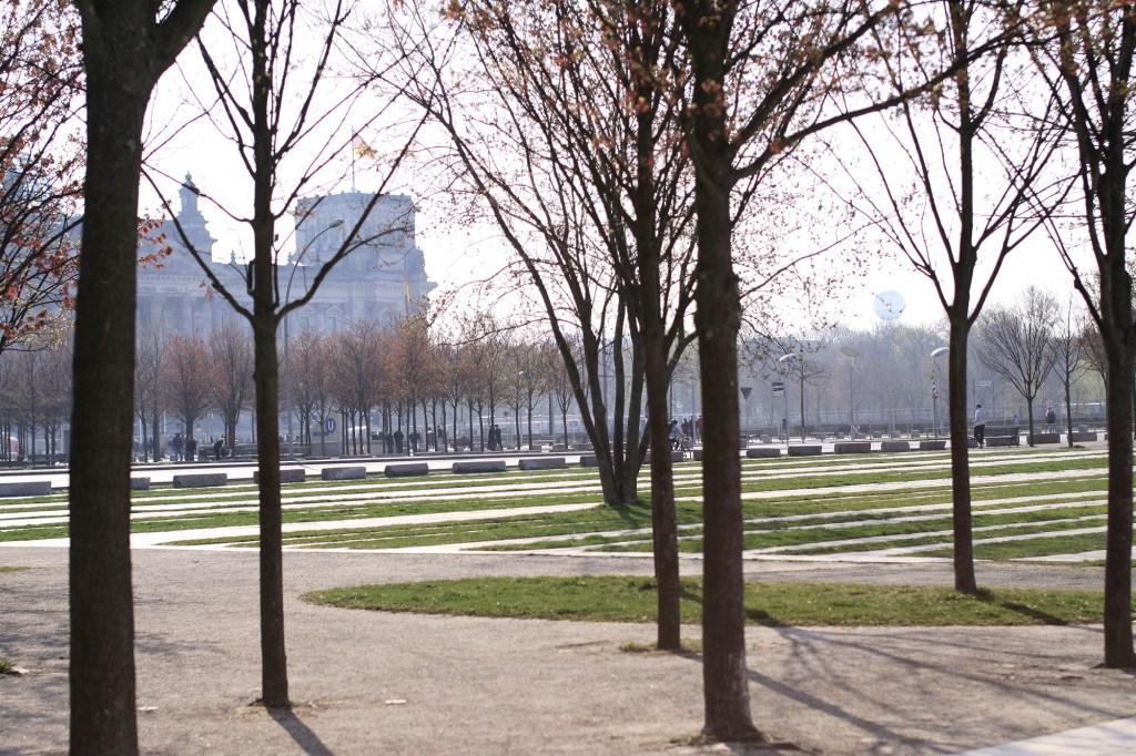 Het park voor de Reichstag
