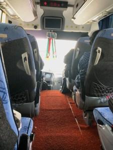 De bus tussen Dubai en Muscat