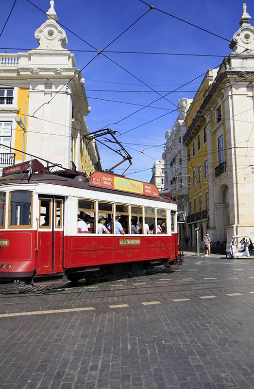 Tram in het centrum