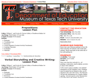 MUSM 5331, Education Website Page Layout