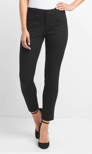 Black cigarette skinny dress pant