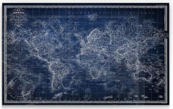 Wrapped Canvas Map
