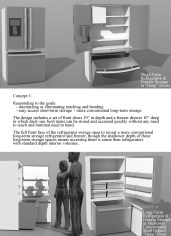 the first, and most conventional, concept for a next-generation refrigerator