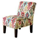 Target- Burke Armless Slipper Chair - Brown/Red/Blue Ikat