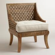 World Market- Tribal Carved Chair