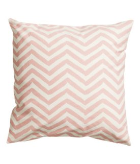 H&M- Cotton Cushion Cover in Light Pink