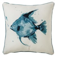 "Target- Threshold™ Beaded Fish Toss Pillow - Turquoise (18x18"")"