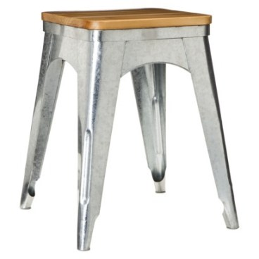 Target- Threshold™ Galvanized Accent Stool - Silver