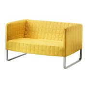 KNOPPARP Loveseat, bright yellow, $99.00, Article Number: 102.651.08