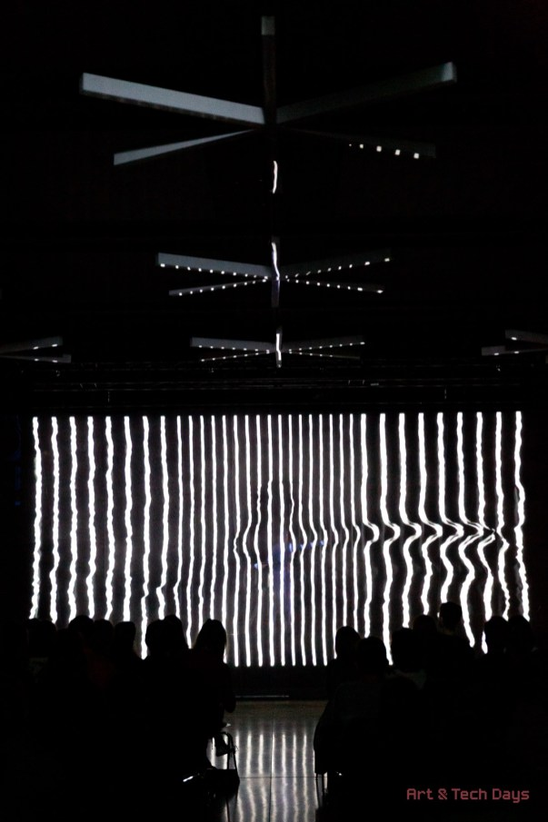 Performance in Kosice, Slovakia. Co:Lateral, by Né Barros and João Martinho Moura,. Picture: Art and Tech Days