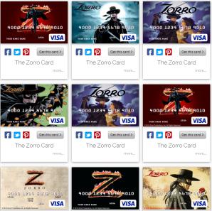 Zorro debit card collection