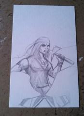 Little Queen's Gambit cover sketch