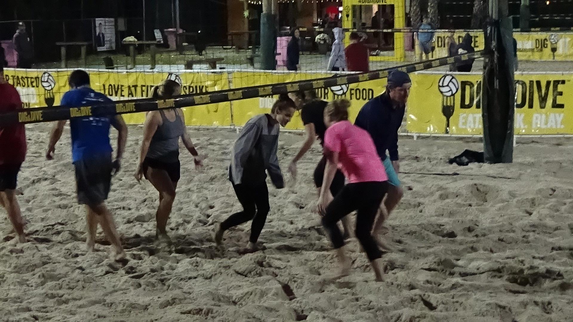 Beach volleyball scene 2