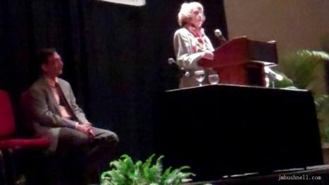 Gail Godwin and Rob Neufeld at the South Carolina Book Festival