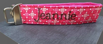 Personalized Embroidery Key Fob I Heart Writing