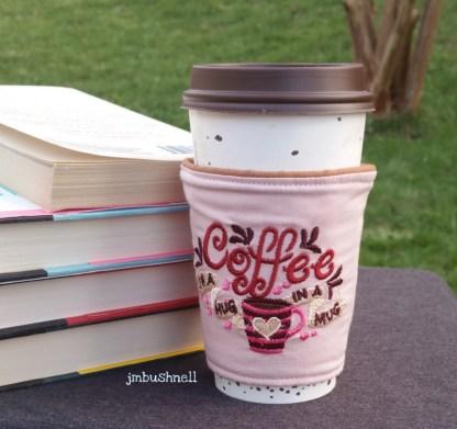coffee is a hug in a mug on a cup