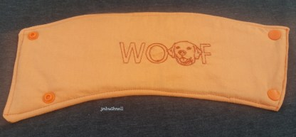 Cozy to Go Woof Dog Head Front
