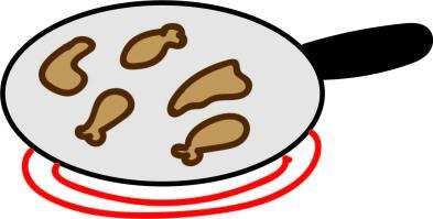 illustration chicken fry
