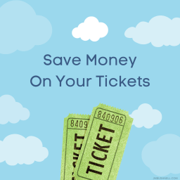 image of tickets and text save money on your tickets