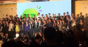 香港電視於今午舉行開台禮,主席王維基指,首7小時的收看人數出乎意料。(影片截圖)