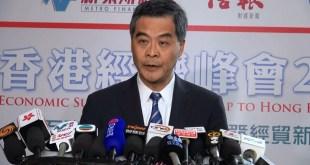 行政長官梁振英呼籲示威者應該停止佔領。(影片截圖)