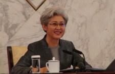 傅瑩憶述,汶川地震時港人慷慨解囊、甚至到災區充當志願者,至今仍覺感動、血濃於水。(楊俊浩 攝)