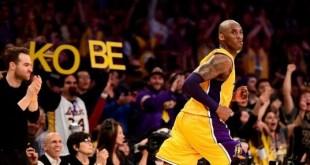 Kobe Bryant在告別戰交出60分4助攻4籃板的成績,率湖人以101-96擊敗爵士。(Getty Image)