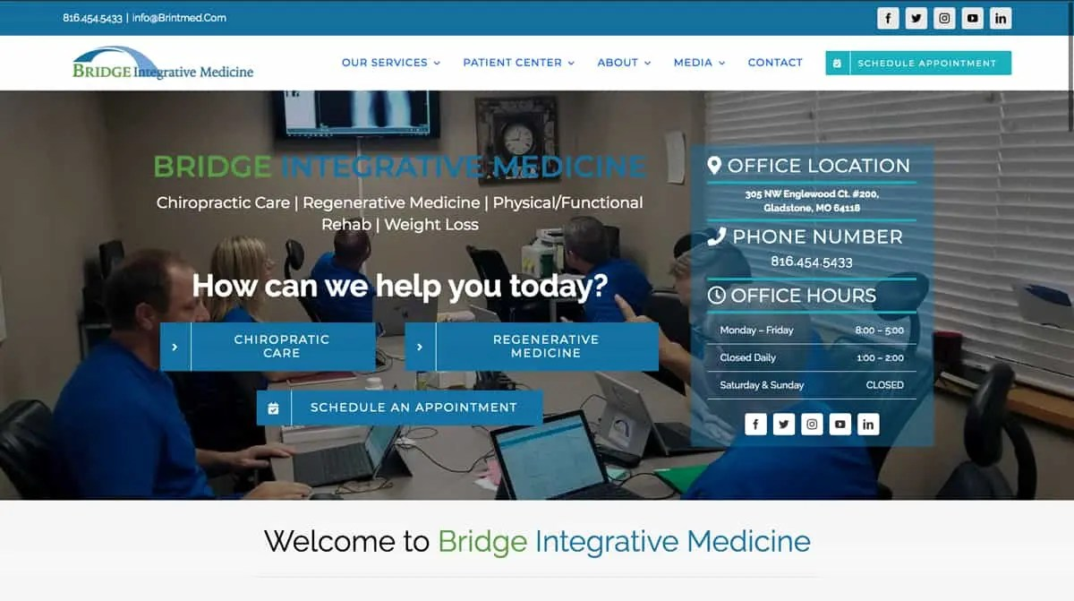 bridge Medicine website design