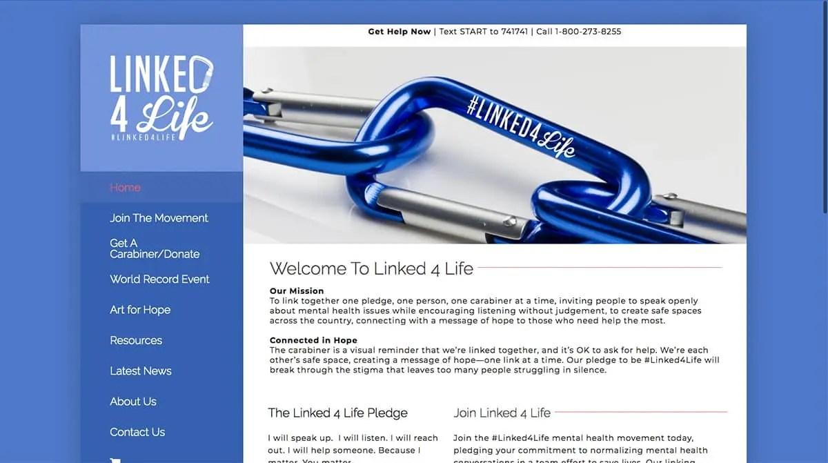 Linked For Life Website Design