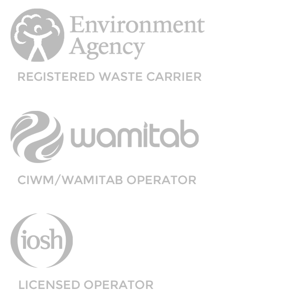 j.m.chisholm are a regiastered waste carrier with the environment agency, are a ciwm / wamitab operator and iosh licensed operator