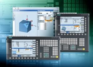 Die neue Sinumerik 828D ergänzt die Reihe von Werkzeugmaschinensteuerungen der Siemens-Division Drive Technologies. Die neue Steuerung ist für die Kompaktklasse von Maschinen konzi-piert und verfügt über anspruchsvolle CNC-Funktionen und universelle CNC-Programmiermethoden. Die neue Panel-basierte CNC-Steuerung ist exakt auf den Einsatz in Dreh- und Fräsmaschinen zugeschnitten. Die Sinumerik 828D ist in horizontalem und vertikalem Bedientafellayout und jeweils zwei CNC-Leistungsklassen erhältlich. The new Sinumerik 828D is the latest addition to the series of machine tool controls from the Siemens Drive Technologies Division. The new control is designed for compact class machine tools and comes with a range of sophisticated CNC functions and universal CNC programming methods. The new panel-based CNC control is precisely tailored for application in lathes and milling machines. The Sinumerik 828D is available with a horizontal and vertical control panel layout, each of which comes in two CNC performance categories.