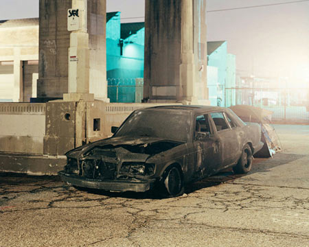Burned Car, Los Angeles, 2009 © Will Steacy