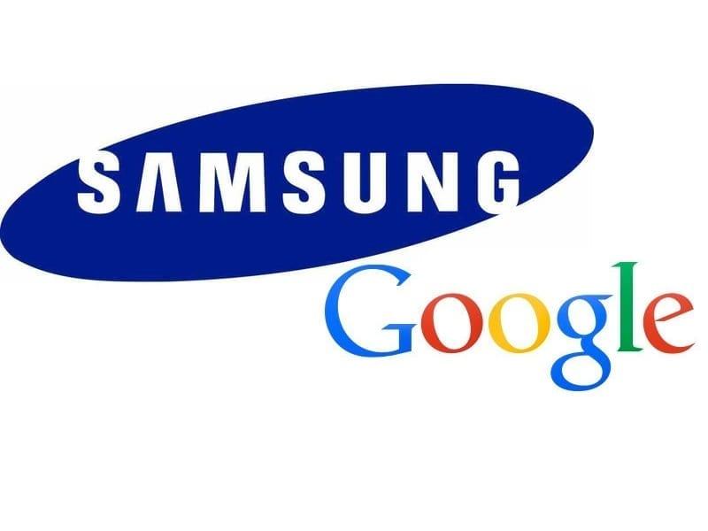 Samsung and Google logos